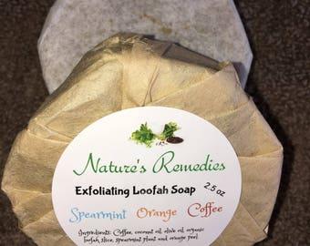 Exfoliating Loofah Coffee Soap
