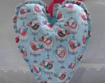 Bird cage padded heart
