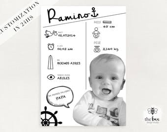 Baby infographic Baby infography poster or card. Infografia bebe para poster o tajetas. Customized in 24hs
