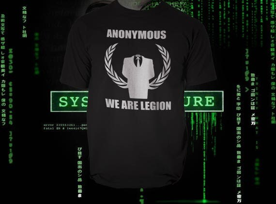 Anonymous, Hacker Group, Black Tshirt tribute