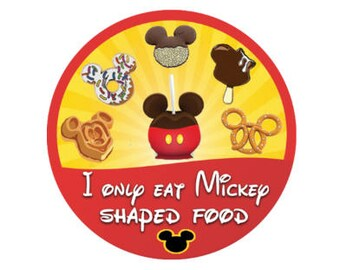 Mickey Mouse Inspired Food Button - Disney Park Food Button - Theme Park Pin - Disney Lanyard Pin - Disney Park Badge - Mickey Food Pin