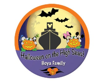Halloween on the High Seas - Disney Cruise Badge - Cruise Pin - Mickey and Minnie Button - Donald and Goofy Button - Disney Cruise Button