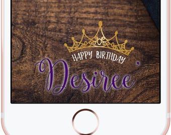 Crown Floral Birthday Snapchat Custom Filter Geofilter