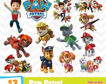 Paw Patrol Clipart, Paw Patrol PNG Files, Digital Designs, Party Printables, Paw Patrol Birthday Party, Instant Download, Funny-022