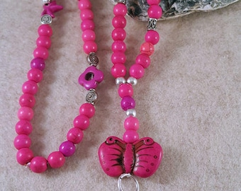 Magical XL chain in pink