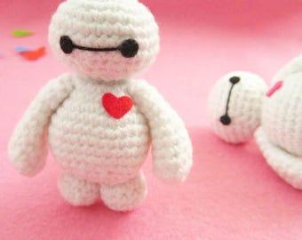baymax amigurumi, crochet baymax, kawaii keychain, baymax keychain, amigurumi keychain, baymax plushie,