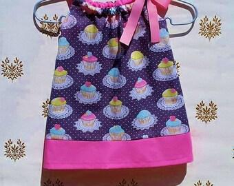 Cupcakes Pillowcase Dress for Toddler