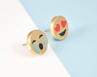 Happy & Sad Emoji Ear Studs