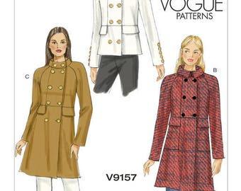 Vogue V9157 coat and jacket sewing pattern