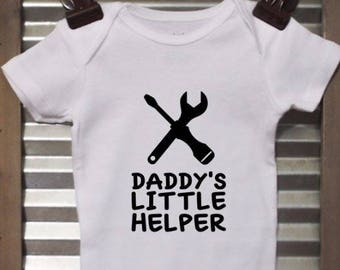 Daddy's Little Helper Baby Onesie - Tool Baby Bodysuit - Infant Bodysuit - Great baby shower gift! Note: Wording can be changed!