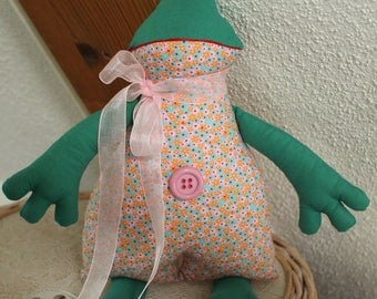 Plush pink and Green Frog