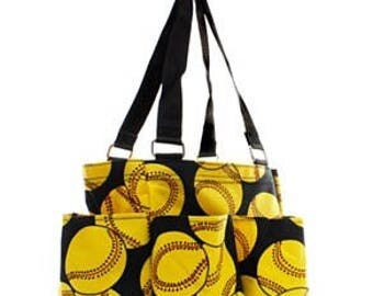 Softball Nurse Caddy Utility Tote Bag - FREE MONOGRAMMING!