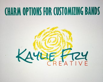 Additional Charm Options for Double Wrap Band Purchases from KaylieFryCreative