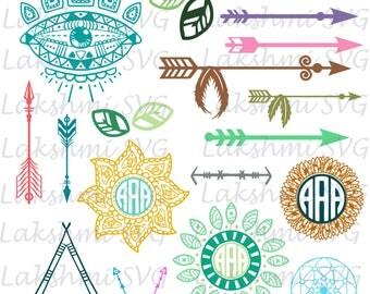 Arrows Svg Clipart, arrows svg,arrow colors, png files, Tribal arrows svg,Monogram svg,Mandala svg,cutfile cricut