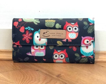 Black Owl Long Wallet