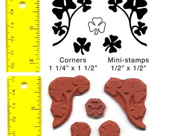 Shamrock Corners set of 5 Unmounted Rubber Stamps #1045