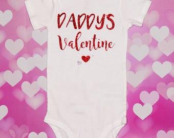 daddys valentine baby onesie valentines day baby onesie valentines day outfit baby girl - Valentines Baby Outfit