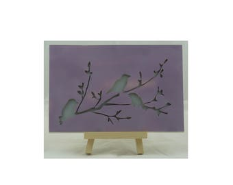 """Birds on a branch"" frame"