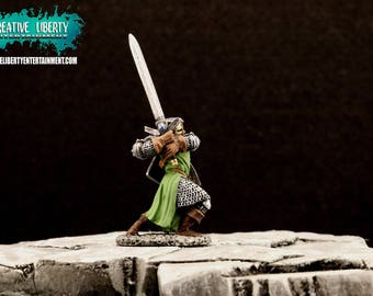 Green Knight Miniature with Sword