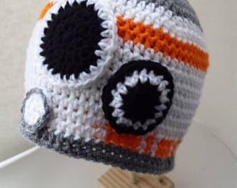 BB8 Beanie, Star Wars Hat, Crochet Hat