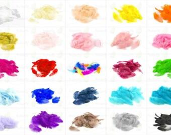 20 plumes marabou vieux rose  environ 6-10 cm ideal bijoux deco