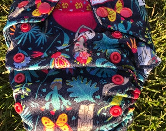 Frida Kahlo one size pocket cloth diaper (insert not included)