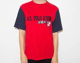 US Polo Assn, 90s, Tumblr Shirt, 90s Shirt, Graphic Tee, Tumblr Clothing, 90s Tshirts Tumblr, 90s Clothes, 90s Tshirt, Tumblr, Preppy