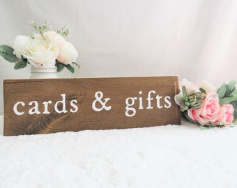 Wedding Cards and Gifts Sign. Cards and Gifts Wedding Sign. Gift Table Sign. Wooden Wedding Sign. Cards and Gifts Rustic Sign. Wedding Sign