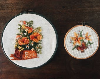Vintage Floral Embroidery Set