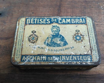 Old metal advertising Cambrai AFCHAIN nonsense box 1930