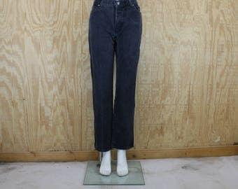 Vintage 1990's HARLEY DAVIDSON Denim Blue Jeans Black Wash High Rise Waist Straight Leg 29 X 31