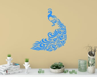 Peacock Wall Decal, Peacock Stickers, Bedroom Decor, Childu0027s Room Decor