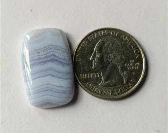 25.60 x 15.65mm,Octogen Shape Blue Lace Agate Cabochon,Attractive Blue Lace Agate/wire wrap stone//Pendant Cabochon/SemiPrecious Gemstone