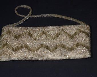 Vintage Handbag, Gorgeous Gold Tone Beaded Handbag, Vintage Purse, Perles d'Orient, Wedding Purse, prom, graduation