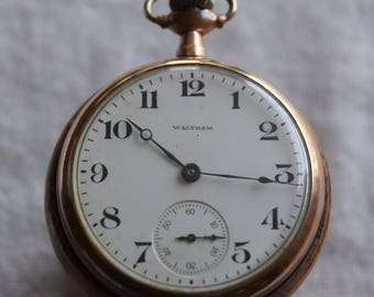 Waltham c1903 Pocket Watch 16S, 15 Jewels | Antique Pocket Watch, Gold tone | Collector | Pocket Watches | Gifts for him | Watch Collector