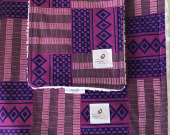 Purple african print baby set; blanket and burp cloth set, baby gift set