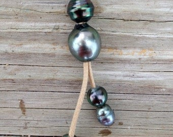 MM102 Tahitian Black Pearl Necklace