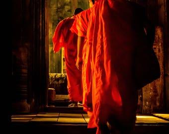 Buddhist monks of Cambodia Art Wall Print