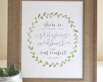 Jane Austen Quote, Printable, Jane Austen's Emma, Handlettered Quote, Home Quote, Home Sign, Jane Austen Printable, Jane Austen Sign