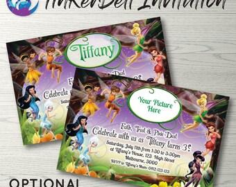 Tinkerbell Invitation, Tinkerbell Birthday Party, Tinkerbell Photo Invite, Tinker Bell Invitation, Fairy Invitation, Tinkerbell Fairy Party