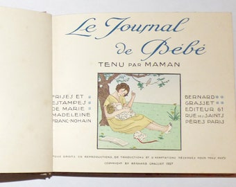 "RARE and beautiful ""Baby Journal"" 1927 girl Version"
