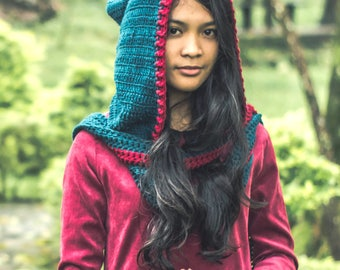 Crochet Scoodie (Scarf and Hoodie in one)