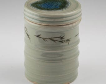 Covered Jar with Fused Glass Lid