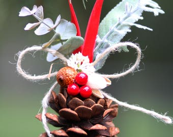 Pinecone ornaments/Christmas pinecone ornaments 2 sets