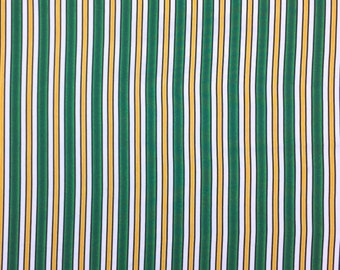 Striped Cotton Fabric, Green Yellow Striped  Fabric, Fabric by the Yard, Quilting Fabric, Apparel Fabric, Striped Fabric
