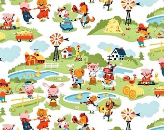 Harmony Farm, Fabric by the Yard Kids Fabric Childrens Fabric Quilt Fabric Cotton Fabric 100% Cotton Fabric Riley Blake Fabric Yardage