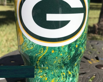 Green Bay Packers Painted Ozark Trail Cup