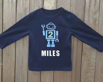 robot birthday shirt, robot birthday, robot shirt, boys robot shirt, robot birthday party, robot party, toddler robot shirt, robot, robots