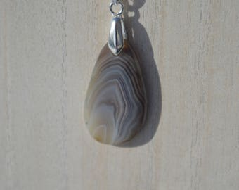 Botswana Agate Necklace with Beautiful Bands