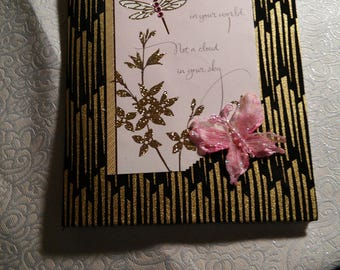 Elegant fabric covered notebook